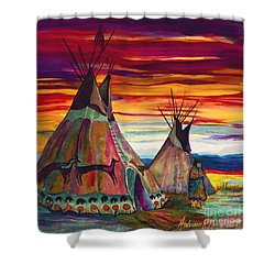 Summer On The Plains Shower Curtain by Anderson R Moore
