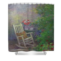 Summer Porch And Rocker Shower Curtain