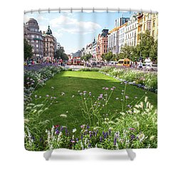 Shower Curtain featuring the photograph Summer Prague by Jenny Rainbow