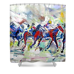 Summer Race Shower Curtain by John Jr Gholson