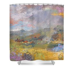 Summer Rain Shower Curtain