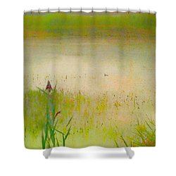 Summer Reeds Shower Curtain