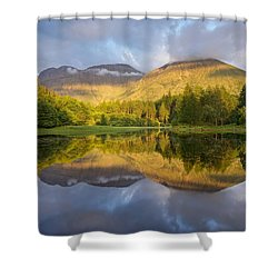 Summer Reflections At The Torren Lochan Shower Curtain