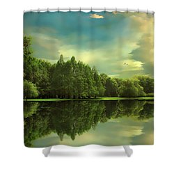 Summer Reflections Shower Curtain by Jessica Jenney