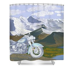 Shower Curtain featuring the drawing Summer Ride by Terry Frederick