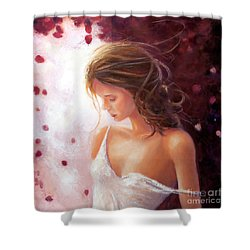 Summer Rose Shower Curtain by Michael Rock