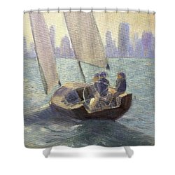 Summer Sail Shower Curtain