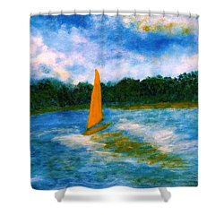 Summer Sailing Shower Curtain