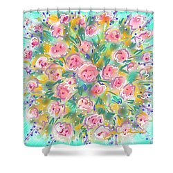 Summer Scarf Shower Curtain by Jean Pacheco Ravinski