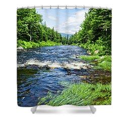 Summer Scene Rangeley Maine  -70742 Shower Curtain