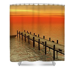 Summer Serenity Shower Curtain