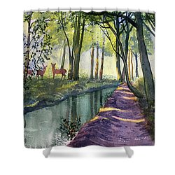 Summer Shade In Lowthorpe Wood Shower Curtain