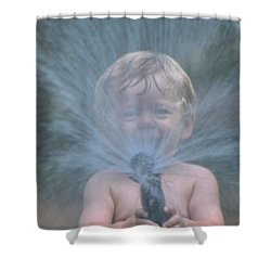 Summer Shower Shower Curtain by Sami Martin