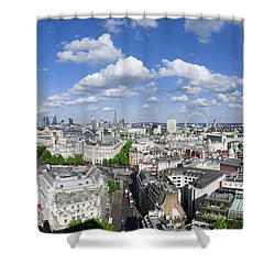 Summer Skies Over London Shower Curtain