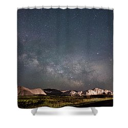 Summer Sky At Badlands  Shower Curtain