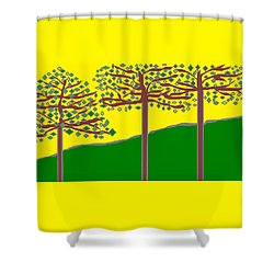 Summer Stained Glass 2 Shower Curtain