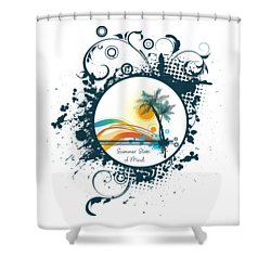 Summer State Of Mind Shower Curtain