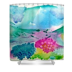 Summer Storm Shower Curtain by Lynda Cookson