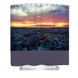 Shower Curtain featuring the photograph Summer Stroll Square by Melanie Moraga