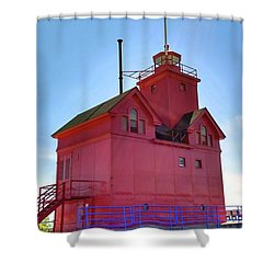 Shower Curtain featuring the photograph Summer Sun And Big Red by Michelle Calkins