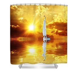 Summer Sun And Fun Shower Curtain by Gabriella Weninger - David