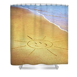 Shower Curtain featuring the photograph Summer Sun by Tim Gainey