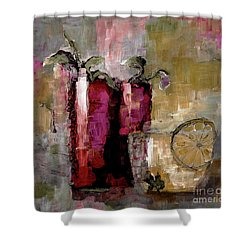 Summer Sunday Sangria With Lemon Water Infusion Painting Shower Curtain
