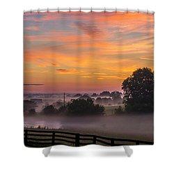Summer Sunrise Shower Curtain