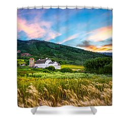 Summer Sunset At Park City Barn Shower Curtain