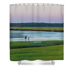 Summer Sunset Hour Shower Curtain