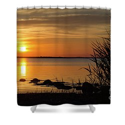 Shower Curtain featuring the photograph Summer Sunset by Kennerth and Birgitta Kullman