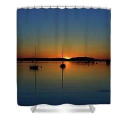 Summer Sunset Monument Beach Shower Curtain