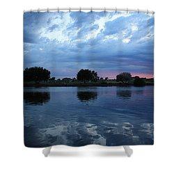 Summer Sunset On Yakima River 5 Shower Curtain by Carol Groenen