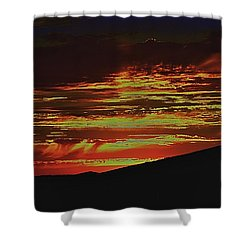 Summer Sunset Rain Shower Curtain
