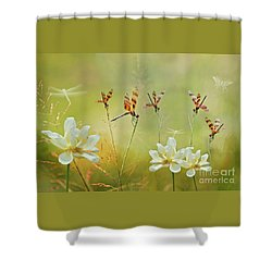 Summer Symphony Shower Curtain by Bonnie Barry