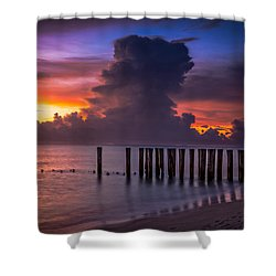 Summer Thunder Shower Curtain