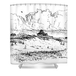 Summer Thunderheads Shower Curtain