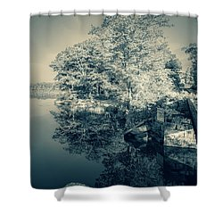 Summer Time Blues Shower Curtain