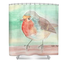 Summer Time Robin Shower Curtain by Isabel Proffit