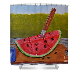 Summer Treat Shower Curtain by Melvin Turner