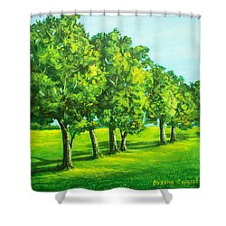 Summer Trees Shower Curtain