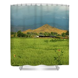 Shower Curtain featuring the photograph Summer View Of  Hay Stack Mountain by James BO Insogna