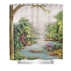 Summer Vista Shower Curtain by Hannibal Mane