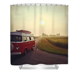 Summer Vw Vibe Shower Curtain