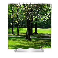 Shower Curtain featuring the photograph Summer Walk by Geraldine DeBoer