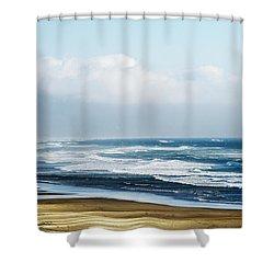 Summer Waves Netarts Oregon Shower Curtain