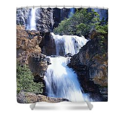 Summer White Water Shower Curtain