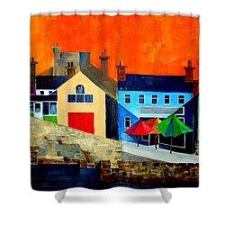 Summercove Umberellas, West Cork Shower Curtain