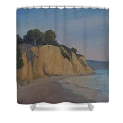 Summerland Beach Study Shower Curtain