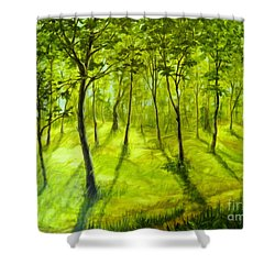 Summers Approach Shower Curtain